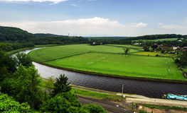 Panoramic river view Royalty Free Stock Photo