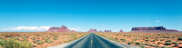 Panoramic road Royalty Free Stock Photo