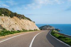 Panoramic road Stock Photo