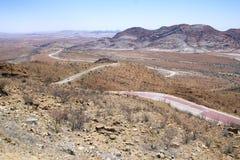 Panoramic Road In Namibian Desert