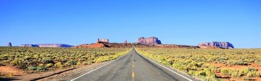 Panoramic road Stock Image