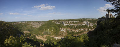 Panoramic of Rocamadour Royalty Free Stock Photo