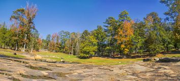 The Panoramic of the Rock. `The Panoramic of the Rock` is photo taken in Flat Rock Park, locted in Columbus, Georgia royalty free stock photos