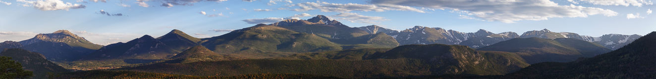 Panoramic Rocky Mountains Royalty Free Stock Images