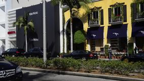 Panoramic of Rodeo Drive stock video