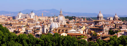 Panoramic Rome cityscape Royalty Free Stock Photography