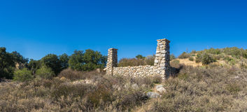 Panoramic Ruins of Desolate Ranch Royalty Free Stock Photo