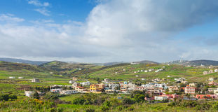 Panoramic rural landscape of Morocco, Africa Royalty Free Stock Images