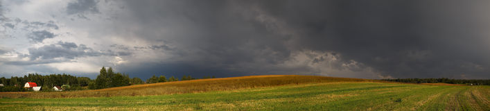 Panoramic rural landscape Stock Photography