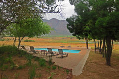 Panoramic Safari Lodge Pool Royalty Free Stock Photo
