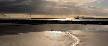 Panoramic salt formation Royalty Free Stock Photo