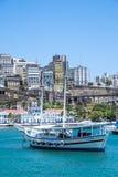 Panoramic of Salvador de Bahia from Todos los Santos bay Royalty Free Stock Image