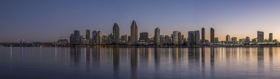 San Diego skyline over the bay at dawn Stock Photography