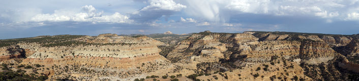 Panoramic of San Rafael Swell Valley Royalty Free Stock Images