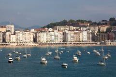 Panoramic of San Sebastian Royalty Free Stock Photo