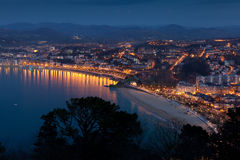 Panoramic of San Sebastian Stock Images