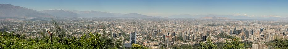 Panoramic of Santiago Stock Images