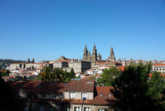 Panoramic of Santiago de Compostela Royalty Free Stock Photos