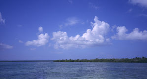 Panoramic -Saona island - Dominican republic Stock Image