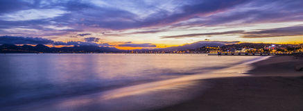 Panoramic scene of the Cannes Royalty Free Stock Photography