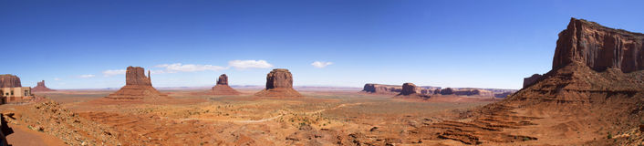 Panoramic Scene in Monument Valley stock photos
