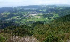 Panoramic scenery at the Azores royalty free stock images