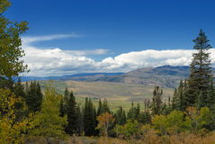 Panoramic scenery in Colorado Royalty Free Stock Photos