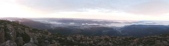 Panorama view of Mt Wellington royalty free stock photo