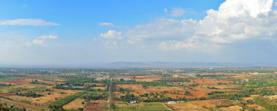 Panoramic scenic aerial view of Farmland in Nakornrachasrima or Stock Photos
