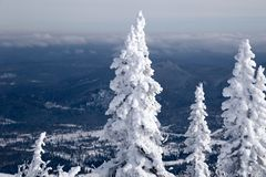 Panoramic scenic view from top of mountain landscapes winter val royalty free stock photo