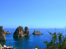 Italy, Sicily: View of Scopello. royalty free stock photo