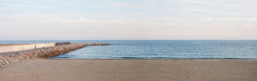 Panoramic sea landscape Royalty Free Stock Images