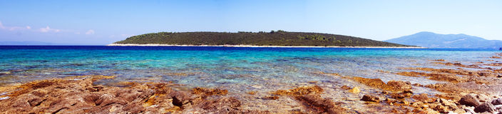 Panoramic Sea landscape from Korcula Island Royalty Free Stock Images