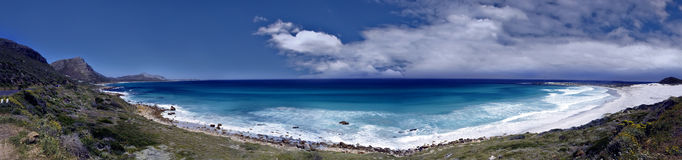 Panoramic sea view. Of Gordon's Bay, South Africa Stock Images