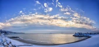 Panoramic sea view Royalty Free Stock Photos