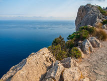 Panoramic sea view. Sea view photographed from view point above a town called Port de Pollenca at the north coast of Mallorca Stock Photography