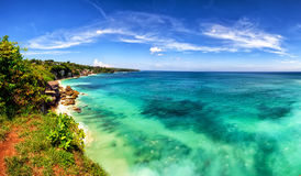 Panoramic sea view with picturesque beach Stock Photo
