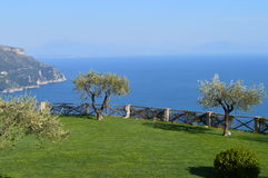 Panoramic sea view from Villa Cimbrone, Ravello, Italy Stock Images