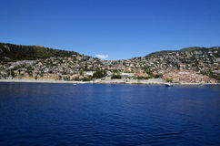 Panoramic sea view at Villefranche Sur Meer at french riviera Stock Images