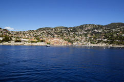 Panoramic sea view at Villefranche Sur Meer at french riviera Stock Photography