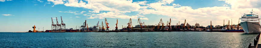 Panoramic Seaport Stock Photography