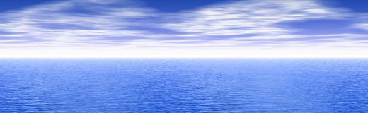 Panoramic Seascape Royalty Free Stock Photo