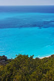 Panoramic Seascape with blue waters at Lefkada, Greece Stock Photos
