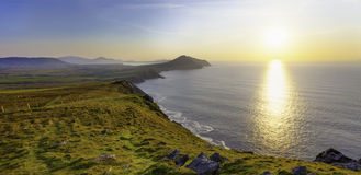 Panoramic seascape from cliffs Stock Images