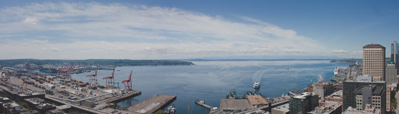 Panoramic of Seattle Royalty Free Stock Images