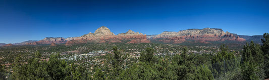 Panoramic of Sedona Arizona Stock Photos