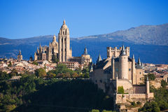 Panoramic of Segovia, Spain Royalty Free Stock Image