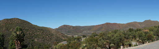 Panoramic of the semi desert Little Karoo Stock Photography
