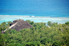 Panoramic Seychelles coast Stock Photos