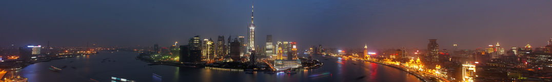 Panoramic Shanghai royalty free stock photography